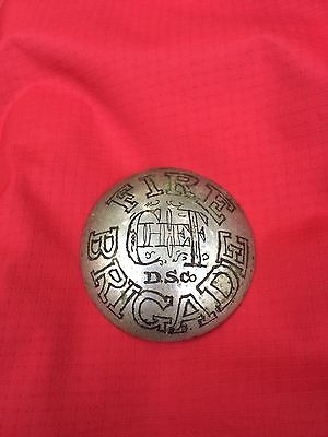Very old hand engraved DS Co. Fire Brigade Chief badge