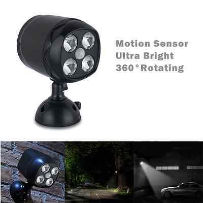 PIR Ultra Bright Motion Activated Sensor Wireless 4 LED Security Light Garden