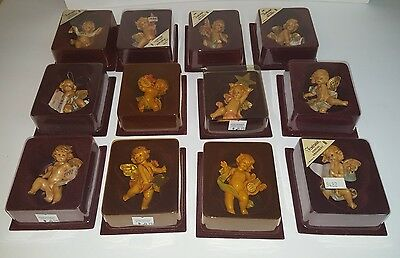 Fontanini LOT of 12 Annual Angel Cherub Ornaments Orig Boxes 1984–1993 Italy