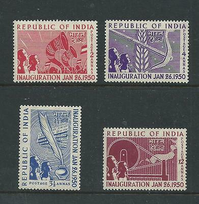 1950 India Inauguration Stamp Set Mint Hinged