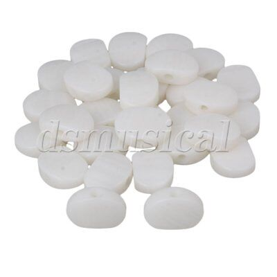 30pcs White Pearloid Buttons for Ukulele Guitar Machine Head Tuning Pegs