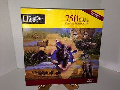 Up Close Africa 750 Pc Puzzle National Geographic Society New