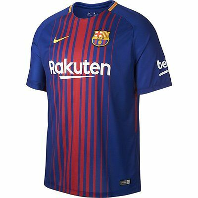 New FC Barcelona 2017-2018 Home Football Shirt Size  Large
