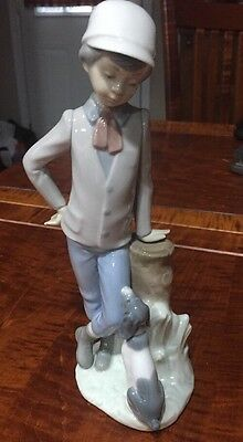 Mint Retired NAO Lladro Figurine Mutual Contemplation Boy with Dog #380 Nice