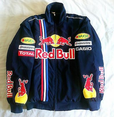 Red Bull Racing Team 2010 Champions F1 Racing Suit Pit Jacket Coat Vettel Size M