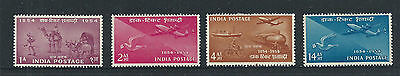 1954 India Stamp Centenary Set Mint Hinged