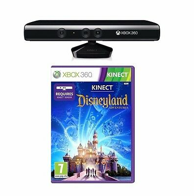 OFFICIAL Microsoft Kinect Sensor with Disneyland Adventures Game - Xbox 360
