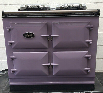 Reconditioned Aga Cooker 3 oven Total Control. Young & Rare Finished in Heather.