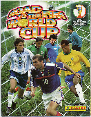 Panini Road to The Fifa World Cup 2002 Complete Loose Sticker Set + Empty Album