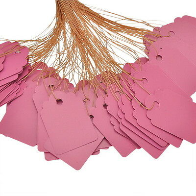 Price Tags- Pink 50 Pack (3.5cm x 2.5cm)