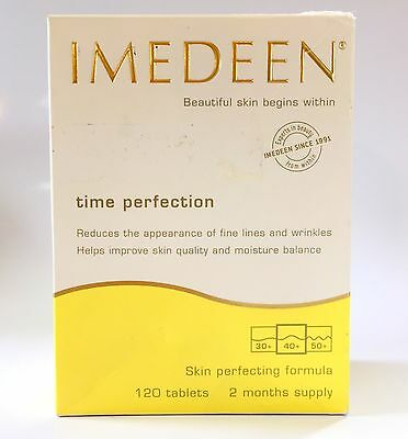 Imedeen Time Perfection 120 Tablets Two Months Supply Exp: 04/2019 Damaged Box