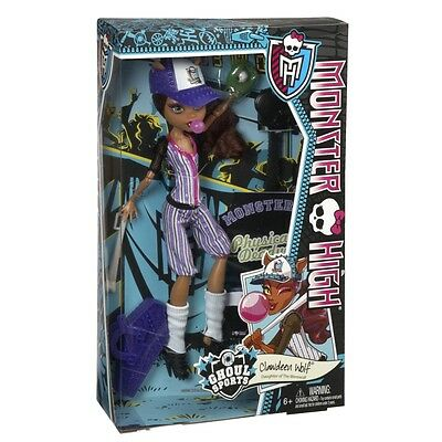 Monster High Ghoul Sports Clawdeen Wolf Doll Brand New Bjr12