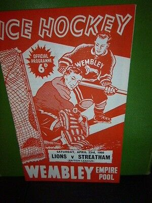 A collection of 6 No. Wembley Lions Ice Hockey Programmes 1958 - 1966