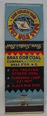 Antique Matchbook Cover Bras D'or Coal Company Patriotic Flag Nova Scotia
