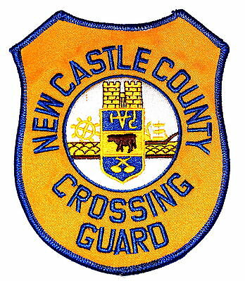 NEW CASTLE COUNTY – CROSSING GUARD – DELAWARE DE Police Sheriff Patch OLD ~