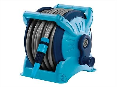FLOPRO COMPACT GARDEN HOSE REEL 20M Including Hose, Gun & Fittings 70300208