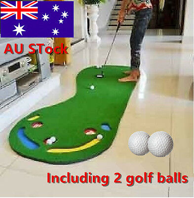 Big Feet Indoor Golf Putting Practice Mat Putting Trainer Artificial Lawn!^