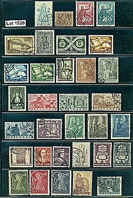Lot 1526..Portugal..selection of 33 used stamps from various years