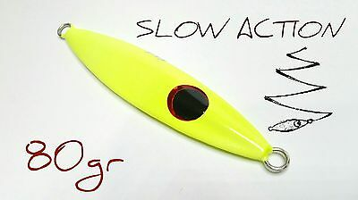 Artificiale  Vertical Jig  Slow Pitch Motion Flap 80 Gr Metal Lure Pesca Mare