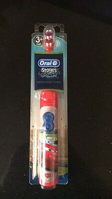New Kids Oral B Cars Movie stages battery toothbrush