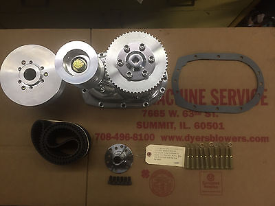 671 BBC Big Block Chevy Dyer's Blower 8mm Pitch Drive Kit Polished New 6-71 871