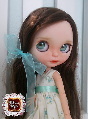 Blythe Faceplate Set Custom Ooak by Delicious Blythe (open mouth and teeth)