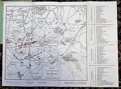 Battle Of Waterloo - Napoleonic Wars Plan (In French)