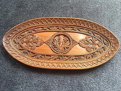 Antique Anglo Indian Carved Sandalwood Card Tray. 1900.
