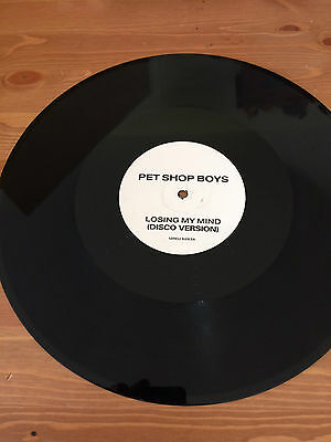 """Pet Shop Boys  Losing My Mind. One sided 12"""" promo"""