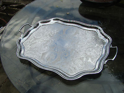 A beautiful Large Vintage Silver Plated Tray Salver
