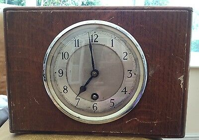 Antique Garrard Oak Mantel Clock (1421)
