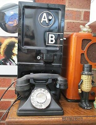 K6 Red Telephone Box A B Coin Box & Working  Gpo Bakelite Telephone