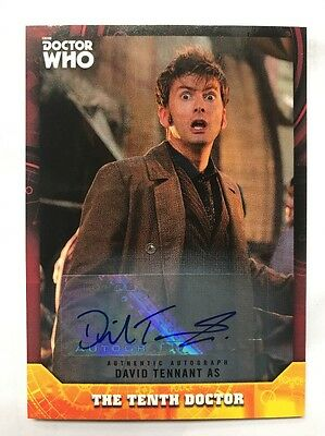 Topps Dr Who Signature Series David Tennant 3/5 Autograph Card The Tenth Doctor
