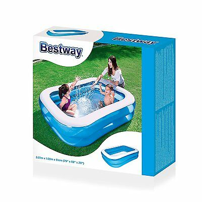 Bestway 54005 Family Pool Planschbecken Blue Rectangular 450L 201x150x51cm