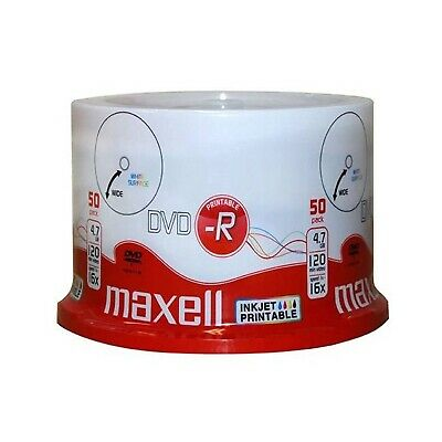 Maxell Full Face Printable 16x DVD-R 4.7GB - 50 Discs (275701)