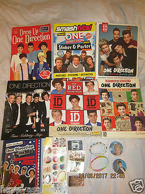 One Direction Book/stickers/bracelets Bundle Used/new