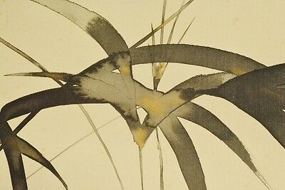 Hanging Scroll Japanese Painting Bamboo Art Picture Asian Japan Antique Pic b292
