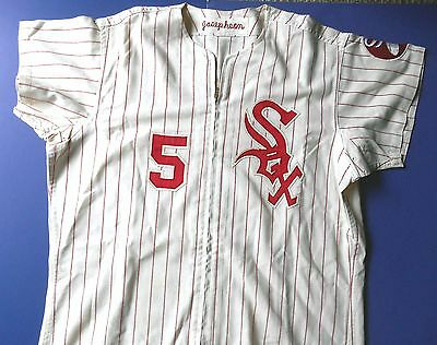 Chicago White Sox - 1971 Game Worn FLANNEL Jersey - Red Pinstripe Era