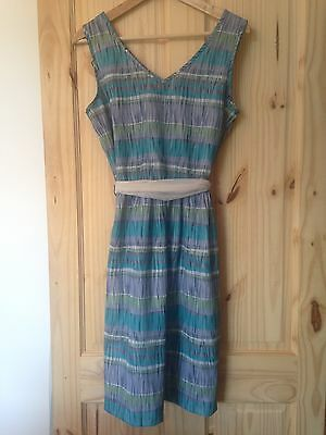 Vintage Green and Blue Dress Size 10/12