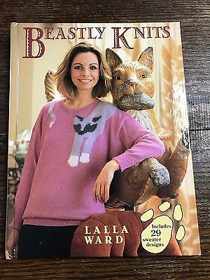 1985 Beastly Knits Machine Knitting Book by Lalla Ward 160 pages