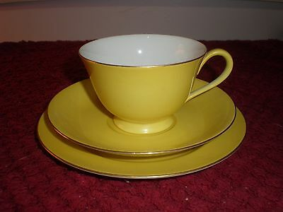 Noritake Yellow (Harlequin) Trio c.1949