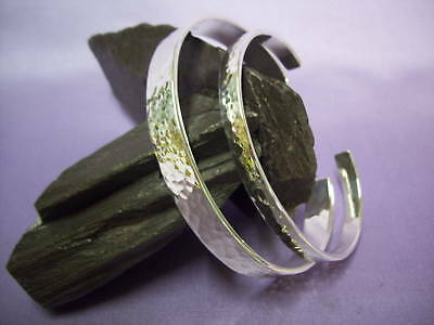 Men's, Ladies Silver Hammered Torque Bangle, Solid, Handcrafted  His And Hers
