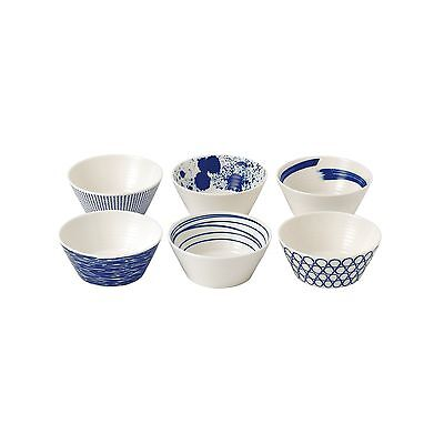Royal Doulton Pacific Tapas Bowls 4.3-Inch Blue Set of 6