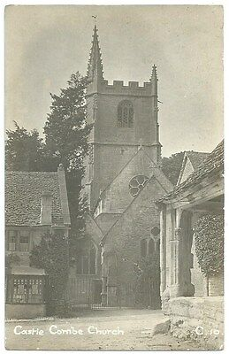 Vintage Postcard. Castle Combe Church. Unused. Ref:76381