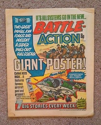 Battle-Action - Dated 19/11/1977 ***1ST FIRST MERGER ISSUE***