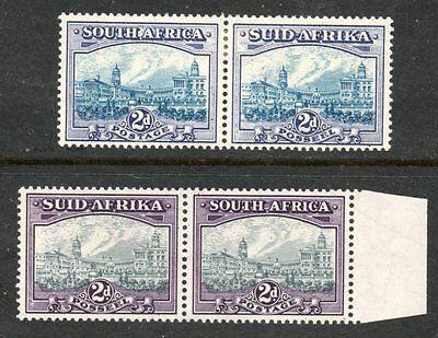 SOUTH AFRICA - 1938/1941 FIRST HYPHENATED DEFINITIVES 2d + BOTH SHADES - VLMM
