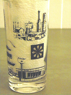 Rare Vintage 1950S Sinclair Gas & Oil Service Station Promo Drinking Glass Dino!