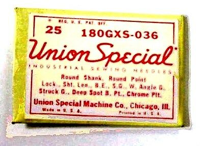 Union Special ,180 GXS-036 Sewing Machine Needles (25 needles)