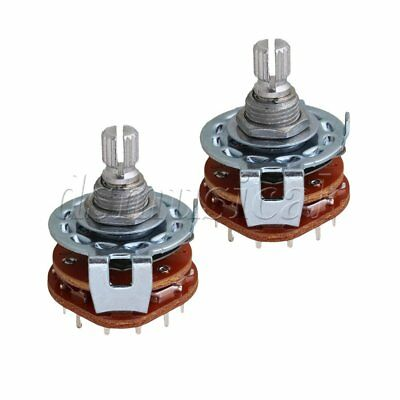 2pcs 4Way Guitar Amplifier Rotary Switch for Custom Wiring