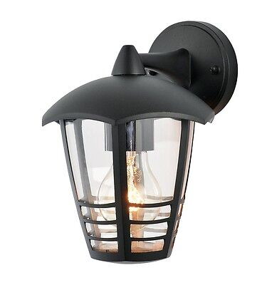 PERDITA 6 Sided Outdoor Light Wall Mounted Traditional Coach Lantern IP44 Black